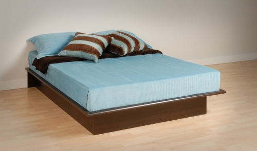 Espresso Platform Bed