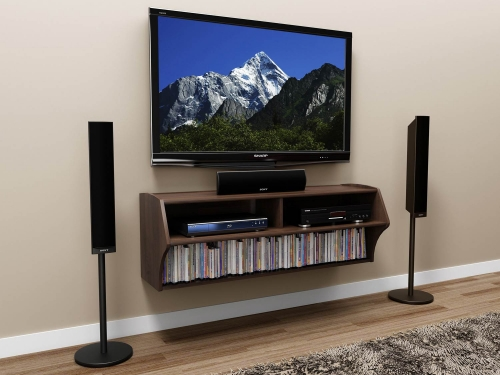 Altus Wall Mounted Audio/Video Console - Espresso