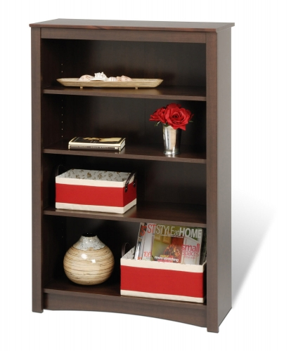 48 Inch Sonoma 4-shelf Bookcase - Espresso