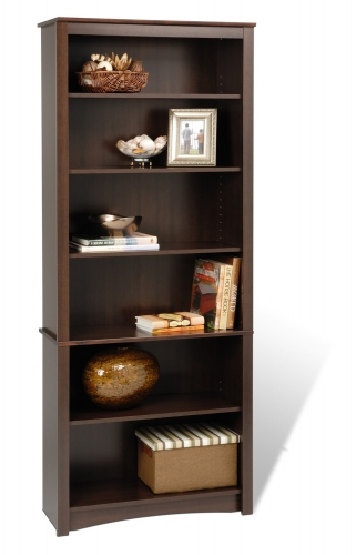 77 Inch Sonoma 6-shelf Bookcase - Espresso