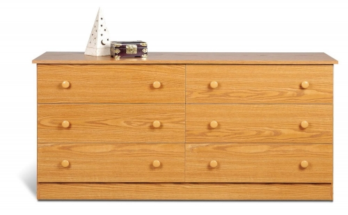 Edenvale 6 Drawer Dresser - Oak