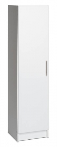 White 16in Broom Cabinet