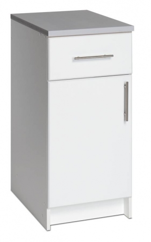 White 16in Base with Drawer and Door
