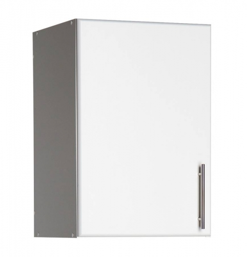 White Elite 16in Topper-Wall Cabinet with 1 Door