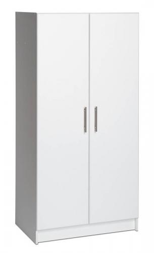 White Elite 32in Wardrobe Cabinet