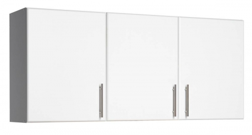 White Elite 54in Wall Cabinet with 3 Doors