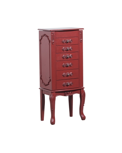 Braelyn Jewelry Armoire - Red