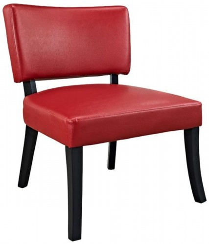 383-725 Faux Leather Accent Chair - Red/Black