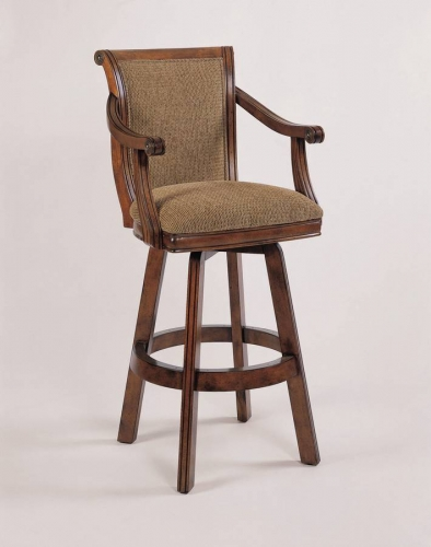 Brandon Warm Cherry Swivel Bar Stool