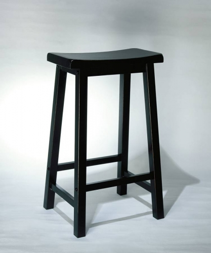 Antique Black with Sand Through Terra Cotta Bar Pub Stool