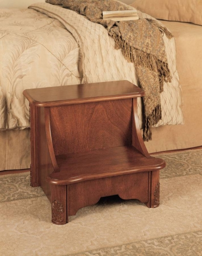 Woodbury Mahogany Bed Step with Storage