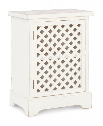 Delaney 1-Door Cabinet - Distressed White
