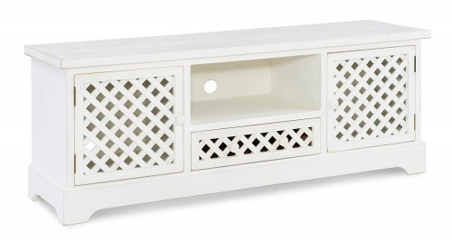 Delaney TV Cabinet - Distressed White
