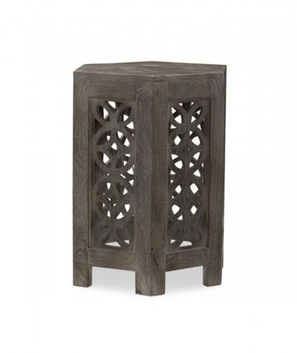 Duvall Hexagon Side Table - Sandblast Grey