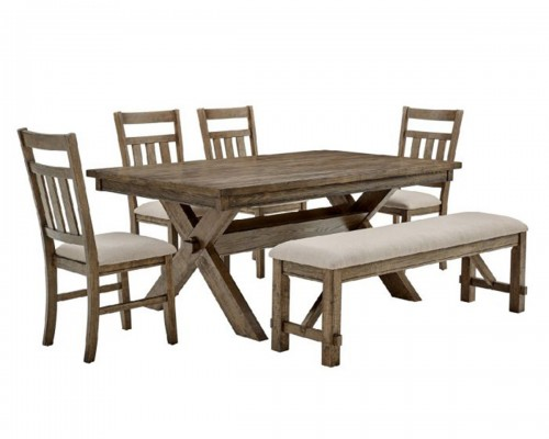 Turino 6PC Dining Set - Rustic Umber