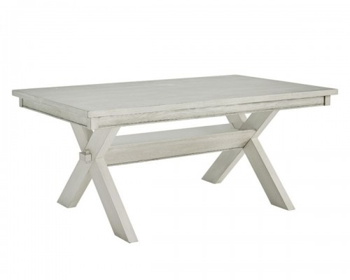 Turino Dining Table - Distressed White