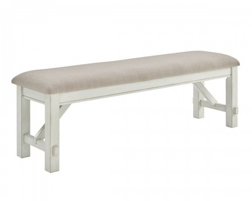 Turino Bench - Distressed White