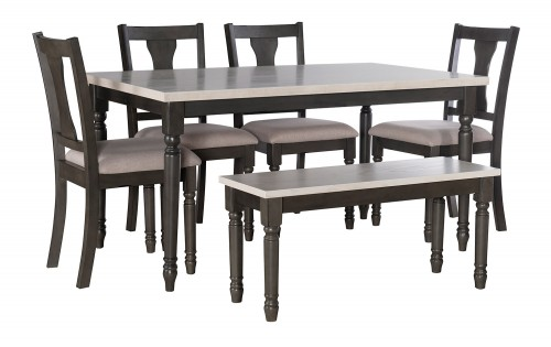Willow 6-Piece Dining Set - Grey