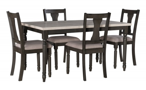 Willow 5-Piece Dining Set - Grey