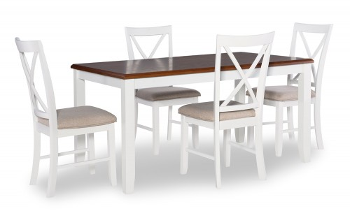 Jane 5-Piece Dining Set - Brown