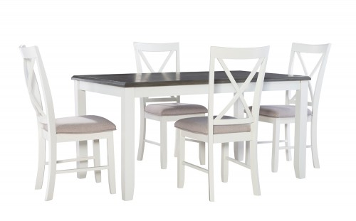 Jane 5-Piece Dining Set - Grey