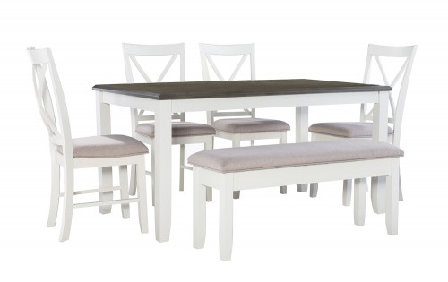 Jane 6-Piece Dining Set - Grey