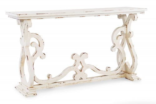 Renck Console Table - Distressed White