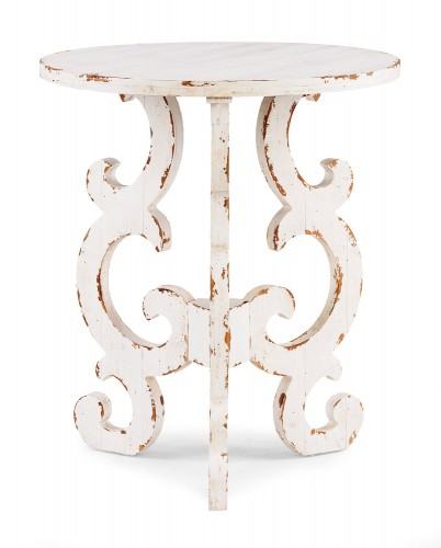 Renck End Table - Distressed White