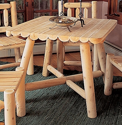 Cedar Looks Square Dining Table Set