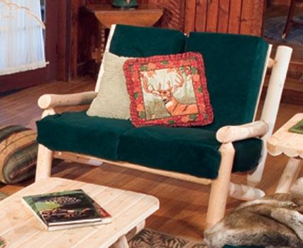 Cedar Looks Living Room Log Loveseat