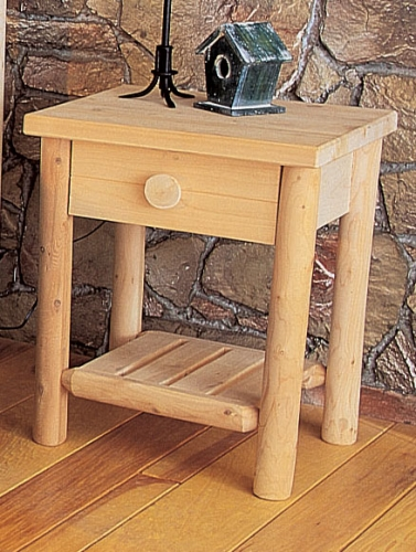 Cedar Looks Night Stand with Drawer