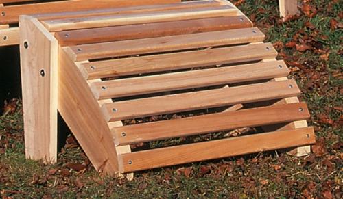 Cedar Looks Deluxe Adirondack Ottoman