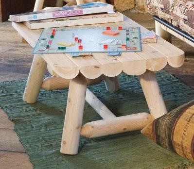 Cedar Looks Rectangular Coffee Table