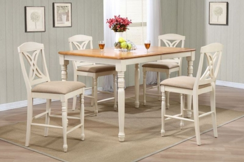 RT67 Caramel/Biscotti Butterfly Back Counter Height Dining Set