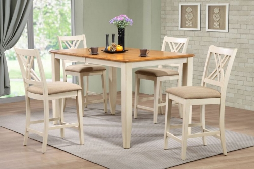 Iconic Furniture RT78 Caramel/Biscotti Double X- Back Counter Height Dining Set