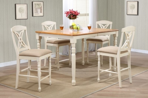 Iconic Furniture RT78 Caramel/Biscotti Butterfly Back Counter Height Dining Set