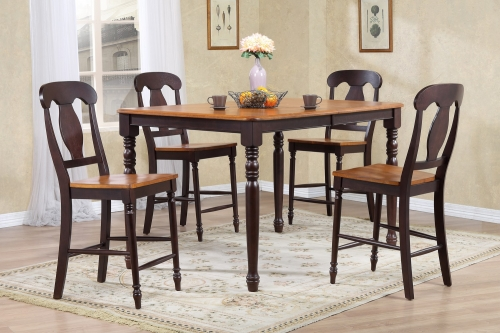 RT78 Whiskey/Mocha Napoleon Back Counter Height Dining Set