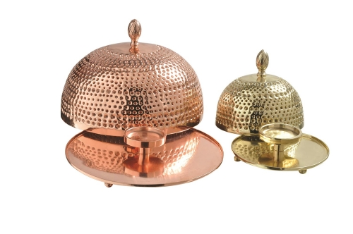 Crustulam Candle Holder - Shiny Copper/Brass