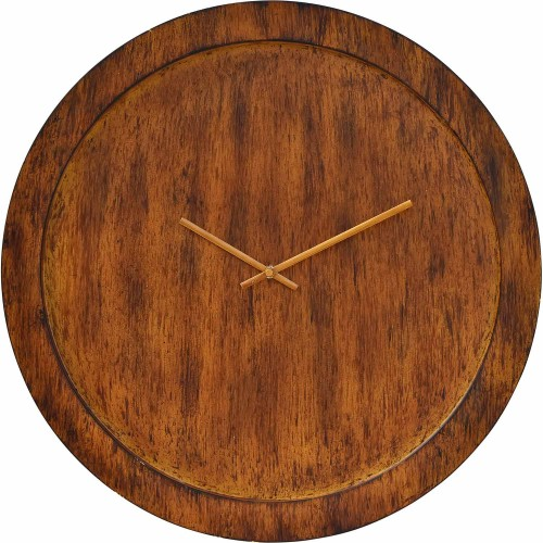 Brice Wall Clock - Handpainted Walnut/Antique Brass