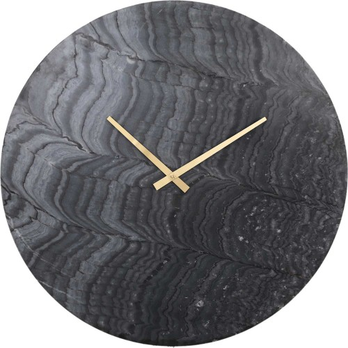 Devlin Wall Clock - Graymarble/Antique Brass