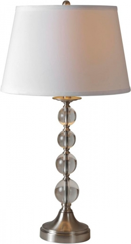 Venezia lamp set - Satin nickel