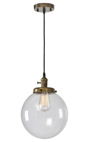 Antonio Pendant Ceiling Fixture - Antique Brass