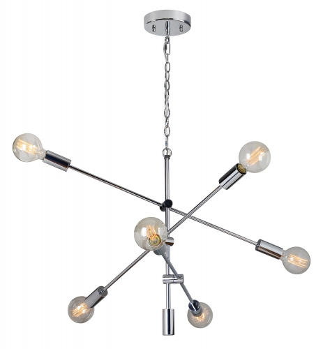 Marco de Cruz Ceiling Fixture - Chrome