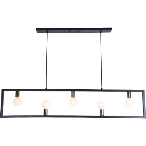Vera Ceiling Fixture - Matte Black/Polished Brass