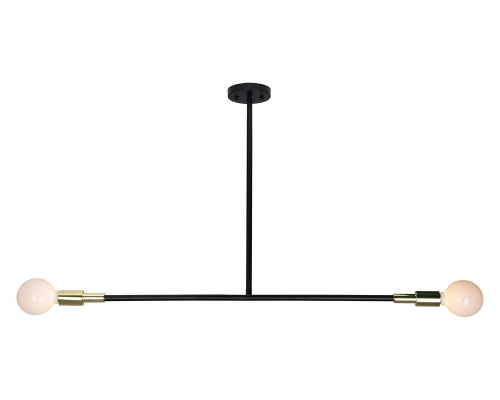 Pairs Ceiling Fixture - Matte Black/Polished Brass