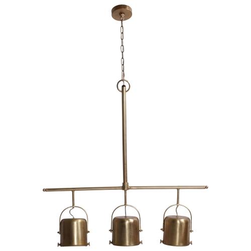 Rosetta Ceiling Fixture - Brass Plated