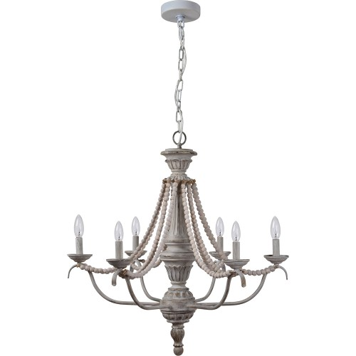 Malcomb Ceiling Fixture - Grey Wash/Light Gray Beads