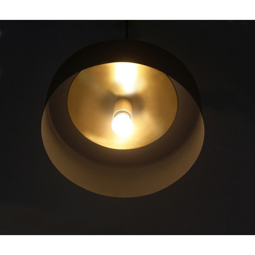 Moriah Ceiling Fixture - Black Powder Coated/Matte Brass