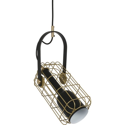 Myla Ceiling Fixture - Matte Black/Antique Gold