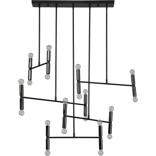 Springdale Ceiling Fixture - Matte Black/Nickel